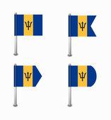 Set of four flags Barbados — Wektor stockowy