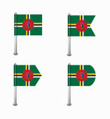Set of four flags Dominica — Stock Vector