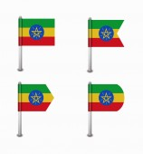 Set of four flags Ethiopia — Vecteur