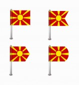 Set of four flags Macedonia — Stock Vector