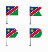 Set of four flags Namibia — Vettoriale Stock