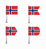Set of four flags Norway — Stock Vector