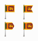 Set of four flags Sri Lanka — Vecteur