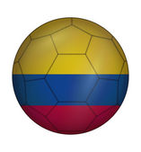 Soccer ball flag of Colombia — Wektor stockowy