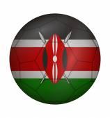 Soccer ball flag of Kenya — Stock Vector