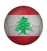 Soccer ball flag of Lebanon — Wektor stockowy