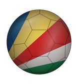 Soccer ball flag of Seychelles — Stock Vector
