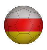 南オセチア自治州のサッカー ボールの旗 — ストックベクタ