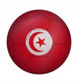 Fußball Ball fahne Tunesien — Stockvektor