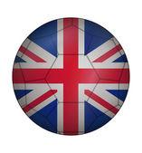 Soccer ball flag of United Kingdom — Stock Vector