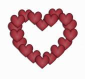 Bordering hearts heart — Stock Vector