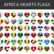 Africa hearts flags vector — Stock Vector #64939871