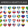 America hearts flags vector — Stock Vector #64939943