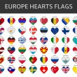 Europe hearts flags vector — Stock Vector #64940049