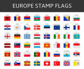 Europe stamps flags vector — Stock Vector