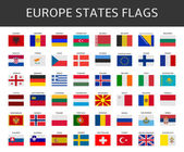 Flag of europe states vector set — Stock Vector