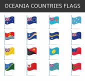 Oceania flag vector — Stock Vector