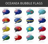Oceania bubble flags vector — Stock Vector