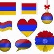Armenia flag set of 8 items vector — Stock Vector #65602471