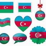 Azerbaijan flag set of 8 items vector — Stock Vector #65602537