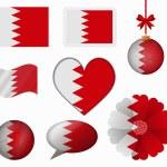 Bahrain flag set of 8 items vector — Stock Vector #65602579