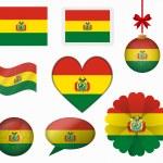 Bolivia flag set of 8 items vector — Stock Vector #65602745