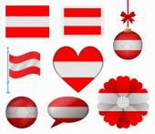 オーストリアの国旗は 8 項目ベクトルのセット — ストックベクタ