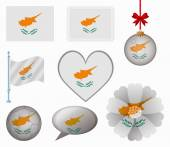 Cyprus flag set of 8 items vector — Stock Vector