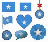 Somalia flag set of 8 items vector — Stock Vector