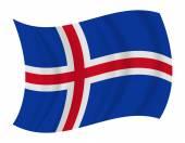 Iceland flag waving vector — Stock Vector