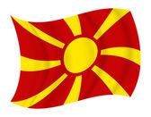Macedonia flag waving vector — Stock Vector