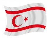 Northern Cyprus flag waving vector — Stock Vector