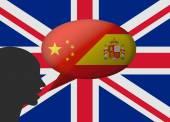 Bilingual in england — Stock Vector