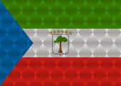 Equatorial guinea low poly flag — Vector de stock