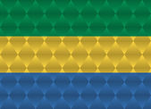 Gabon low poly flag — Stock Vector