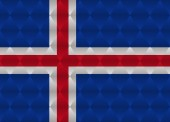Iceland low poly flag — Stock Vector