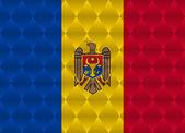 Moldova low poly flag — Stock Vector