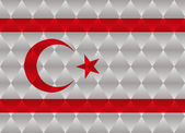 Northern cyprus low poly flag — Stock Vector