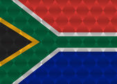 South africa low poly flag — Stock Vector
