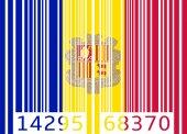 Bar code flag andorra — Stock Vector