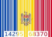 Bar code flag moldova — Stock Vector