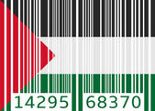 Bar code flag palestine — Stock Vector
