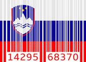 Bar code flag slovenia — Stock Vector