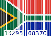 Bar code flag south africa — Vetor de Stock