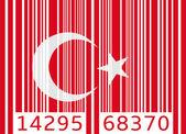 Bar code flag turkey — Cтоковый вектор