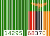 Bar code flag zambia — Vector de stock
