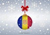 Christmas background andorra — Stock Vector