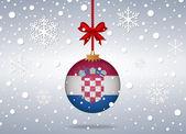 Christmas background croatia — Stock Vector