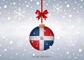 Christmas background dominican rep — Stock Vector