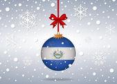 Christmas background el salvador — Stock Vector